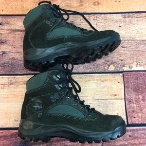 Women's Merrell Hicking Boots Green Leather 7.5